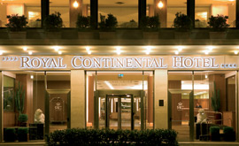 The Royal Continental hotel is created by merging the Royal and the Continental hotels by the seafront in Naples.