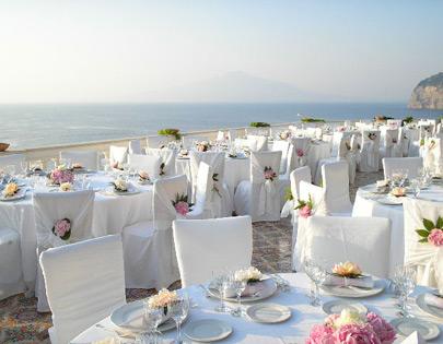 Gli spazi per cerimonie di Royal Group a Sorrento.
