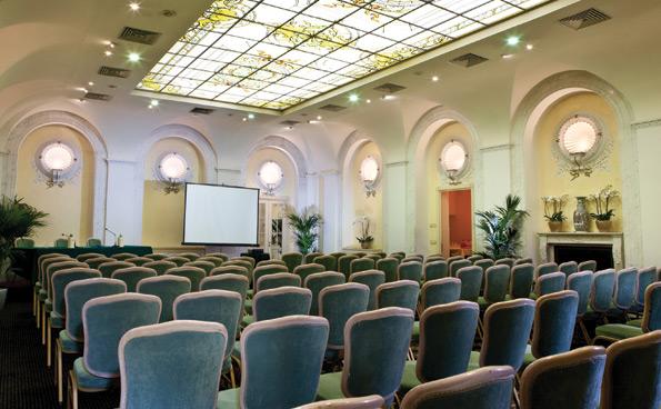 Ambasciatori Room, the main meeting room at the Ambasciatori Palace.