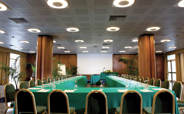 The Leonardo Room is the main room of the meeting centre in Sorrento.