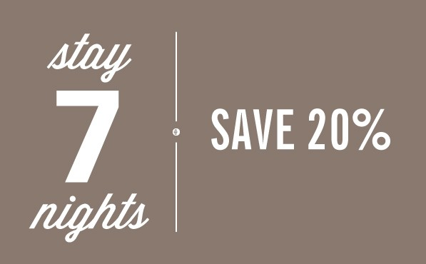 Vai all'offerta STAY 7 AND SAVE!