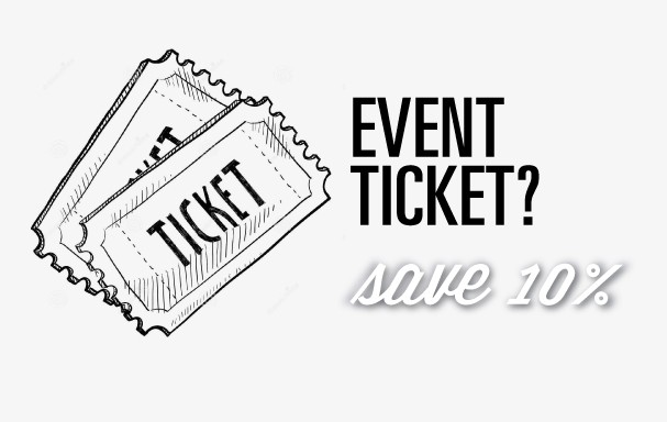 See details Show your ticket! -10% off