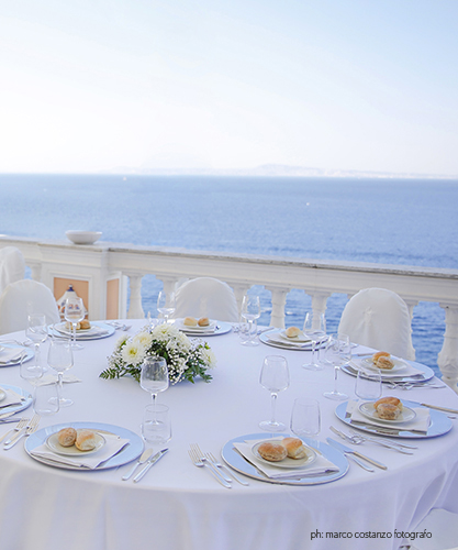 Weddings on the terrace in Sorrento at Parco dei Principi