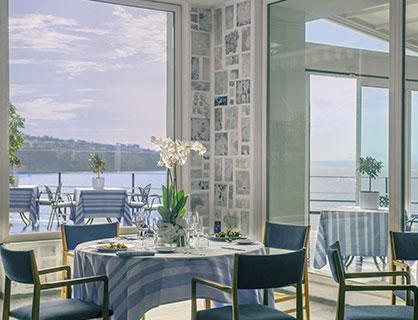 Il ristorante panoramico dell'hotel 5 stelle di Sorrento.