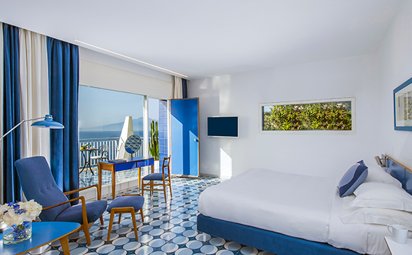 La Junior Suite è una grande camera con vista mare.