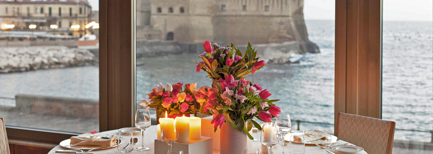For events and dinners, the Royal Continental offers several scenic locations on the Gulf of Naples.
