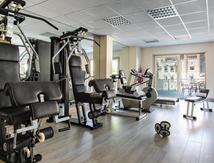 Fitness Room fully equipped for guests of the waterfront hotel.