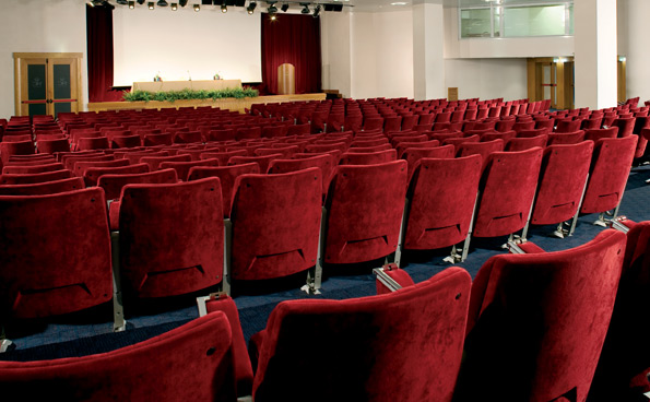 The grand auditorium of the conference centre in Naples can accommodate up to 530 people.